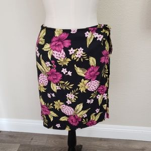 Tommy Bahama Vintage Silk Skirt Pineapple